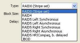 Supported RAID Types